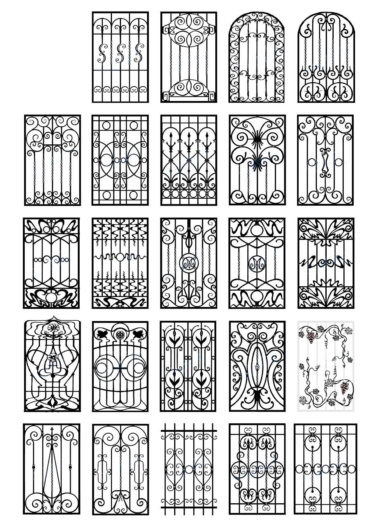 Простые решетки на двери своими руками