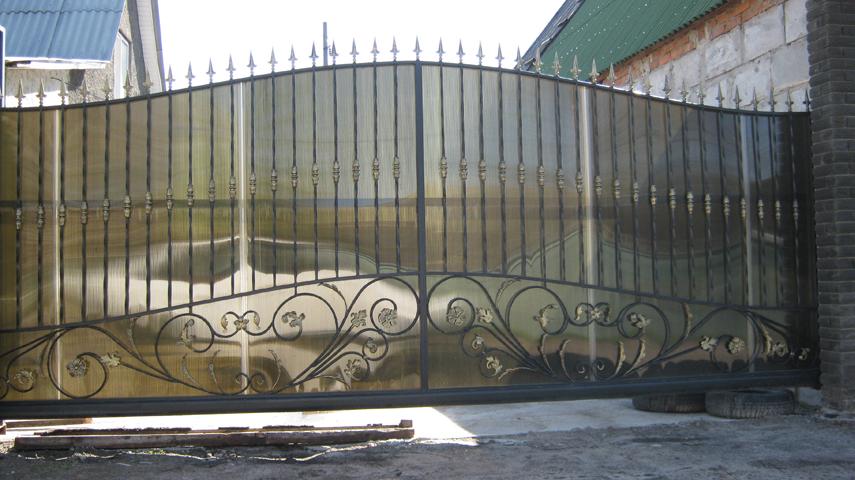 ворота откатные кованые фото